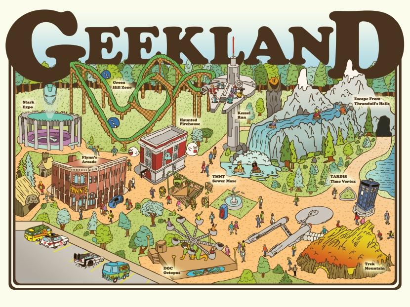 "Geekland 18""x24"""